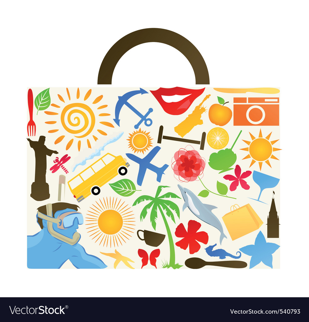 Travel clip art vector | Price: 1 Credit (USD $1)