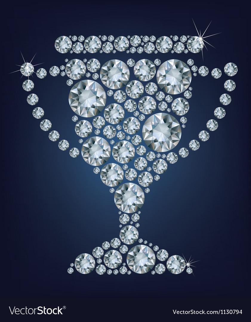 Diamond trophy cup vector   Price: 1 Credit (USD $1)