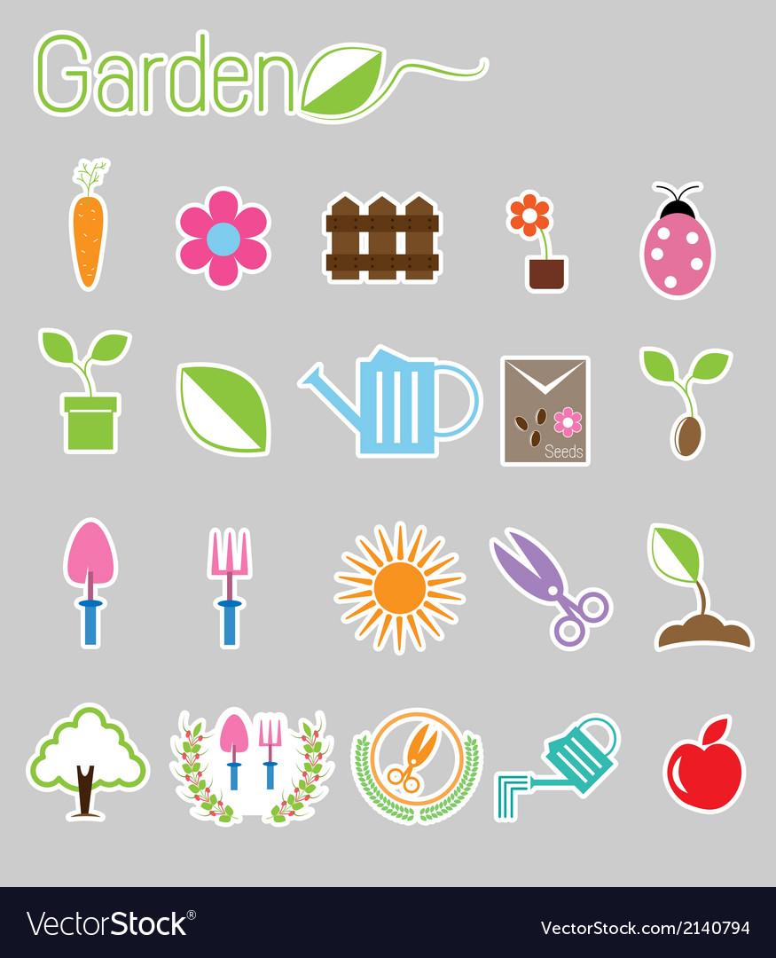 Gardening color icon vector | Price: 1 Credit (USD $1)