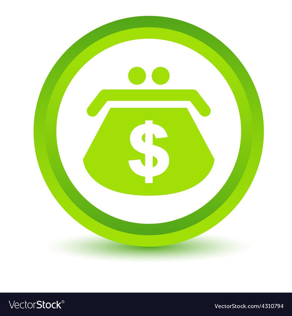 Green dollar purse icon vector | Price: 1 Credit (USD $1)