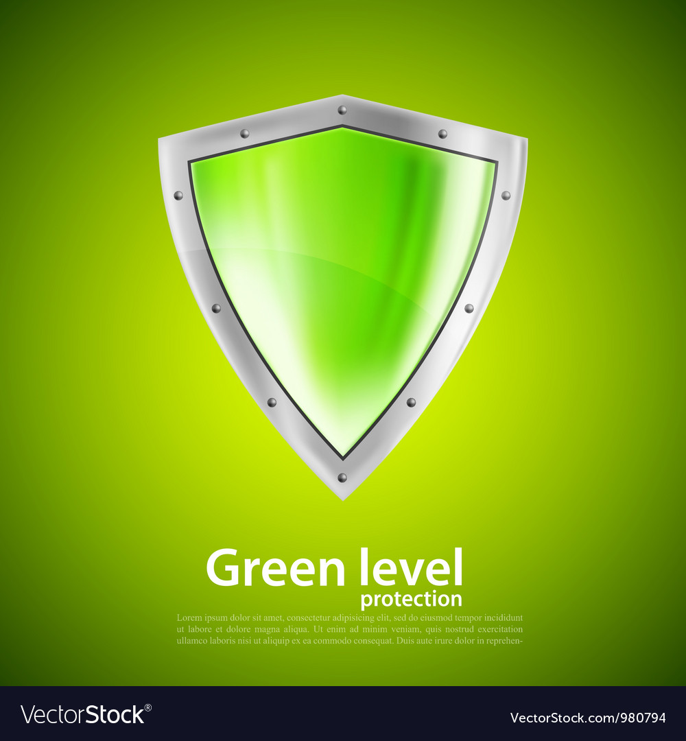 Green shield vector | Price: 1 Credit (USD $1)