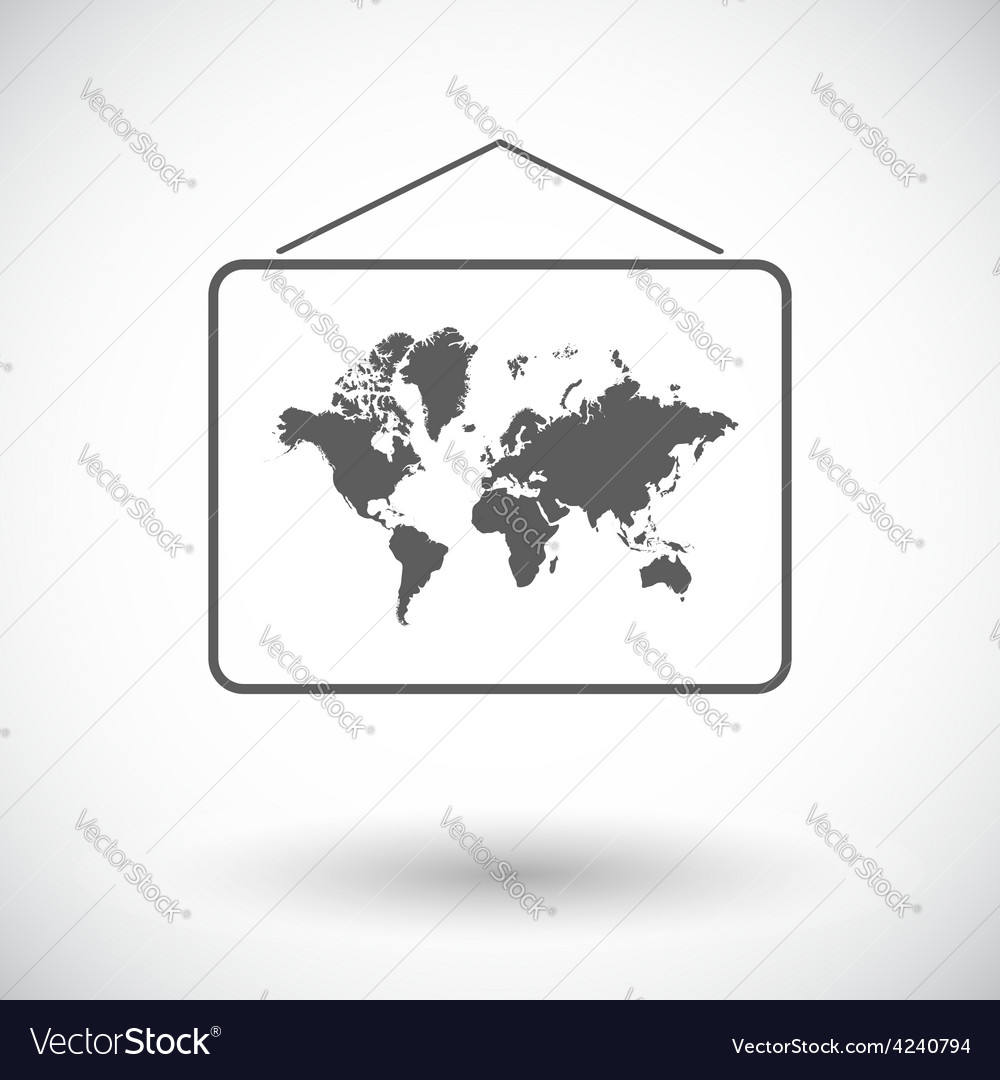Map flat icon vector | Price: 1 Credit (USD $1)