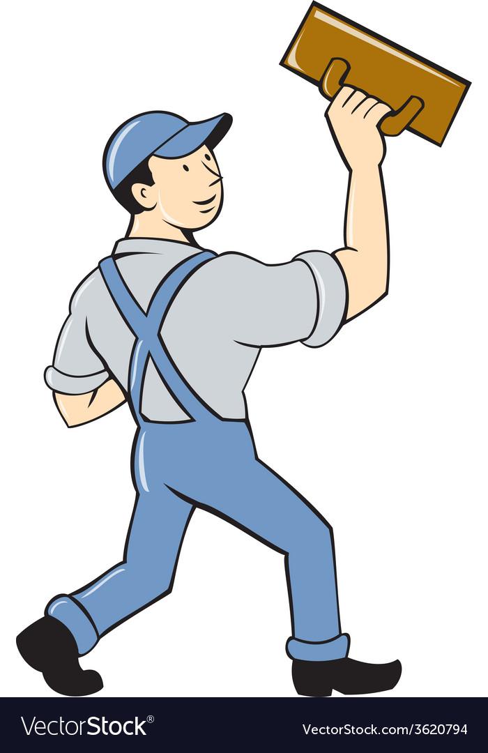 Plasterer masonry trowel cartoon vector | Price: 1 Credit (USD $1)