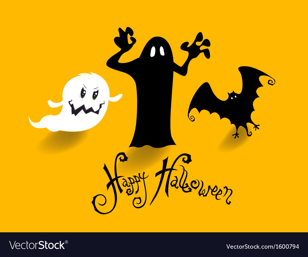 Poster banner or background for halloween party vector | Price: 1 Credit (USD $1)