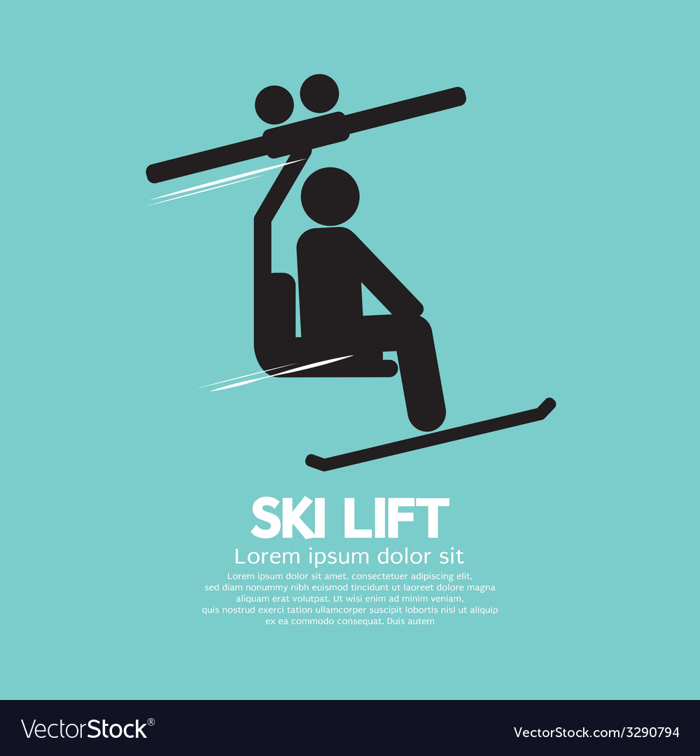 Ski lift graphic symbol vector | Price: 1 Credit (USD $1)