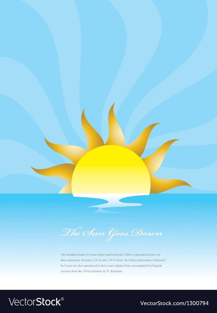Sunset or sunrise vector | Price: 1 Credit (USD $1)