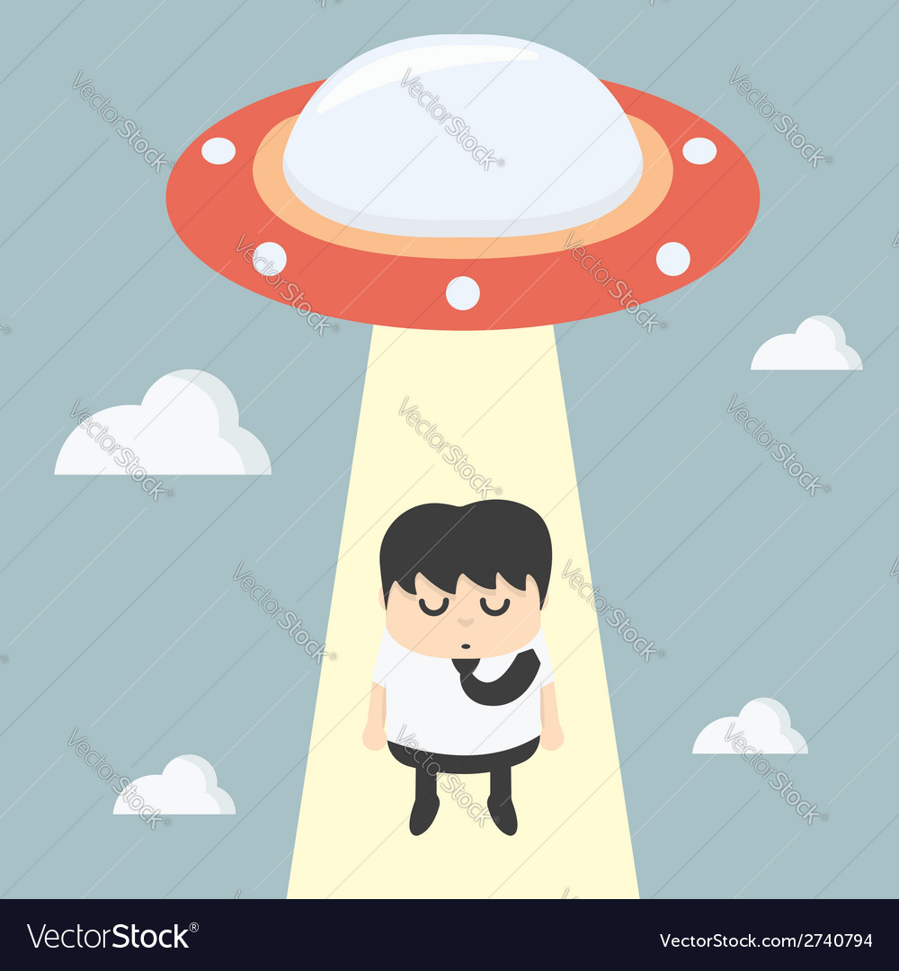 Ufo choosing worker businessman vector | Price: 1 Credit (USD $1)