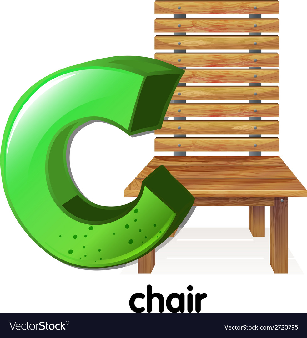 A letter c for chair vector | Price: 1 Credit (USD $1)