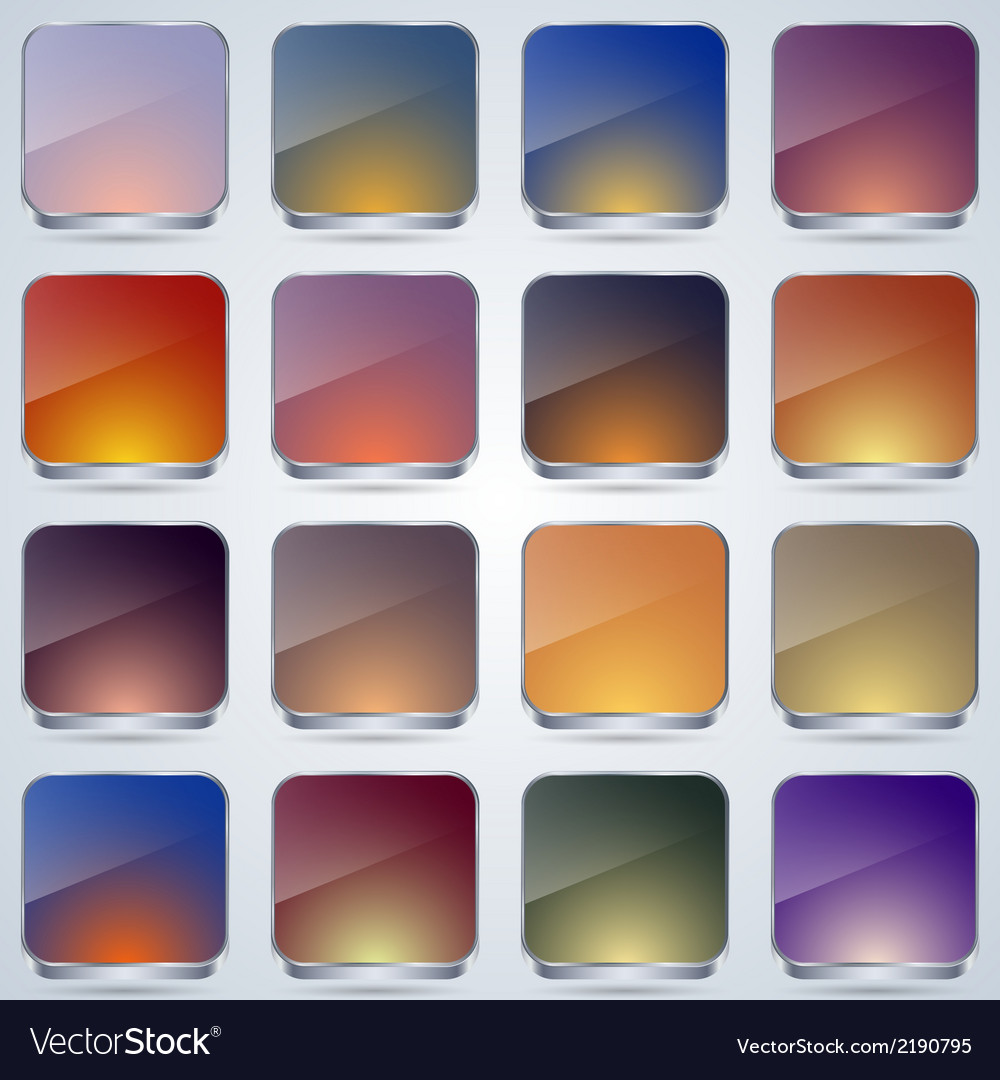 Colorful glass buttons vector | Price: 1 Credit (USD $1)