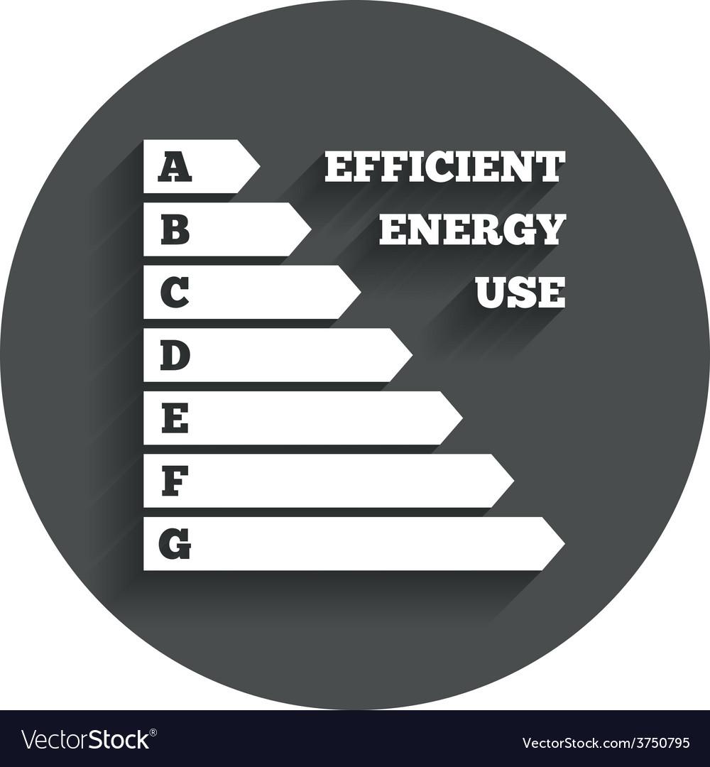 Energy efficiency icon electricity consumption vector | Price: 1 Credit (USD $1)