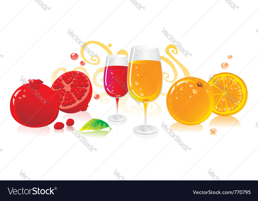 Glasses of red and white wine vector | Price: 1 Credit (USD $1)