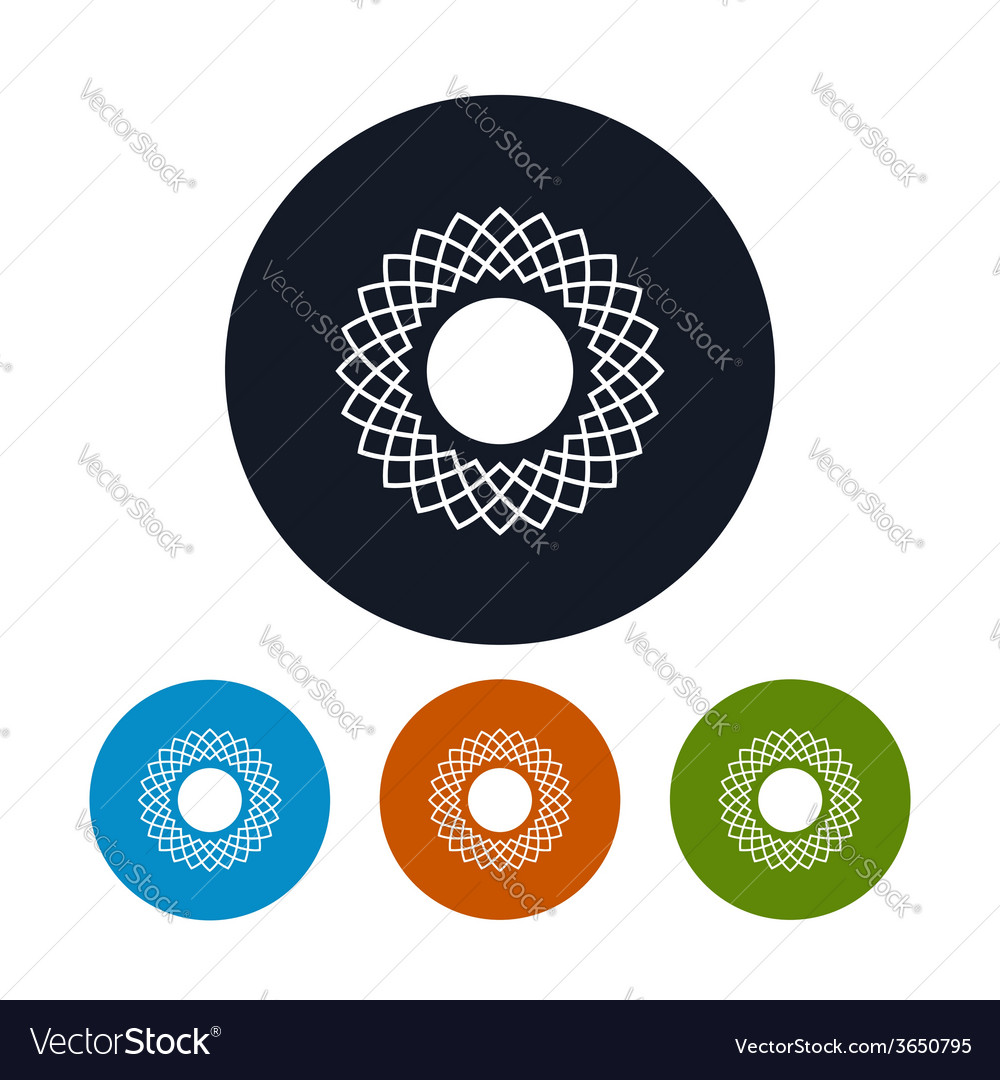 Icon abstract sun vector | Price: 1 Credit (USD $1)
