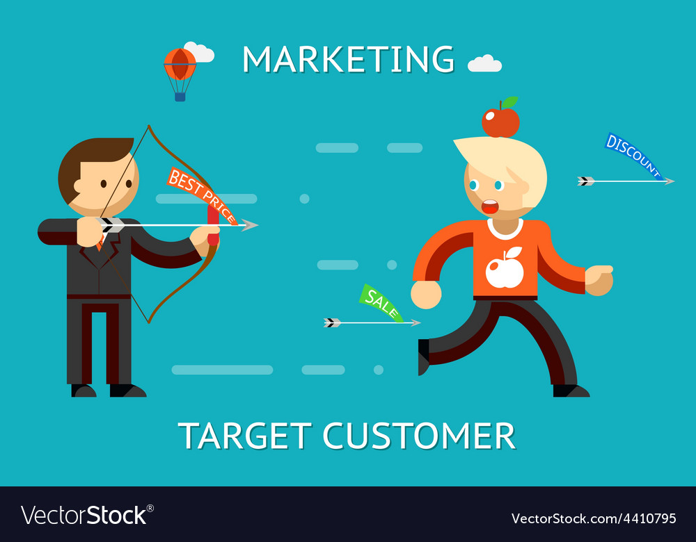 Marketing target customer vector | Price: 1 Credit (USD $1)
