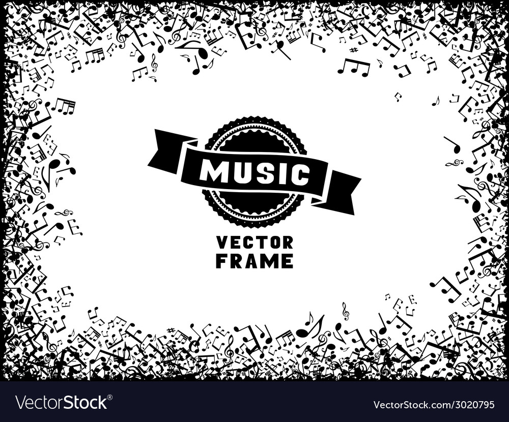 Music frame vector | Price: 1 Credit (USD $1)