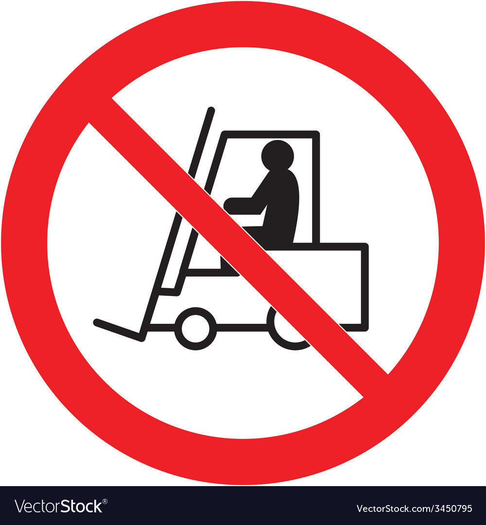 No forklift trucks beyond this point safety sign vector   Price: 1 Credit (USD $1)