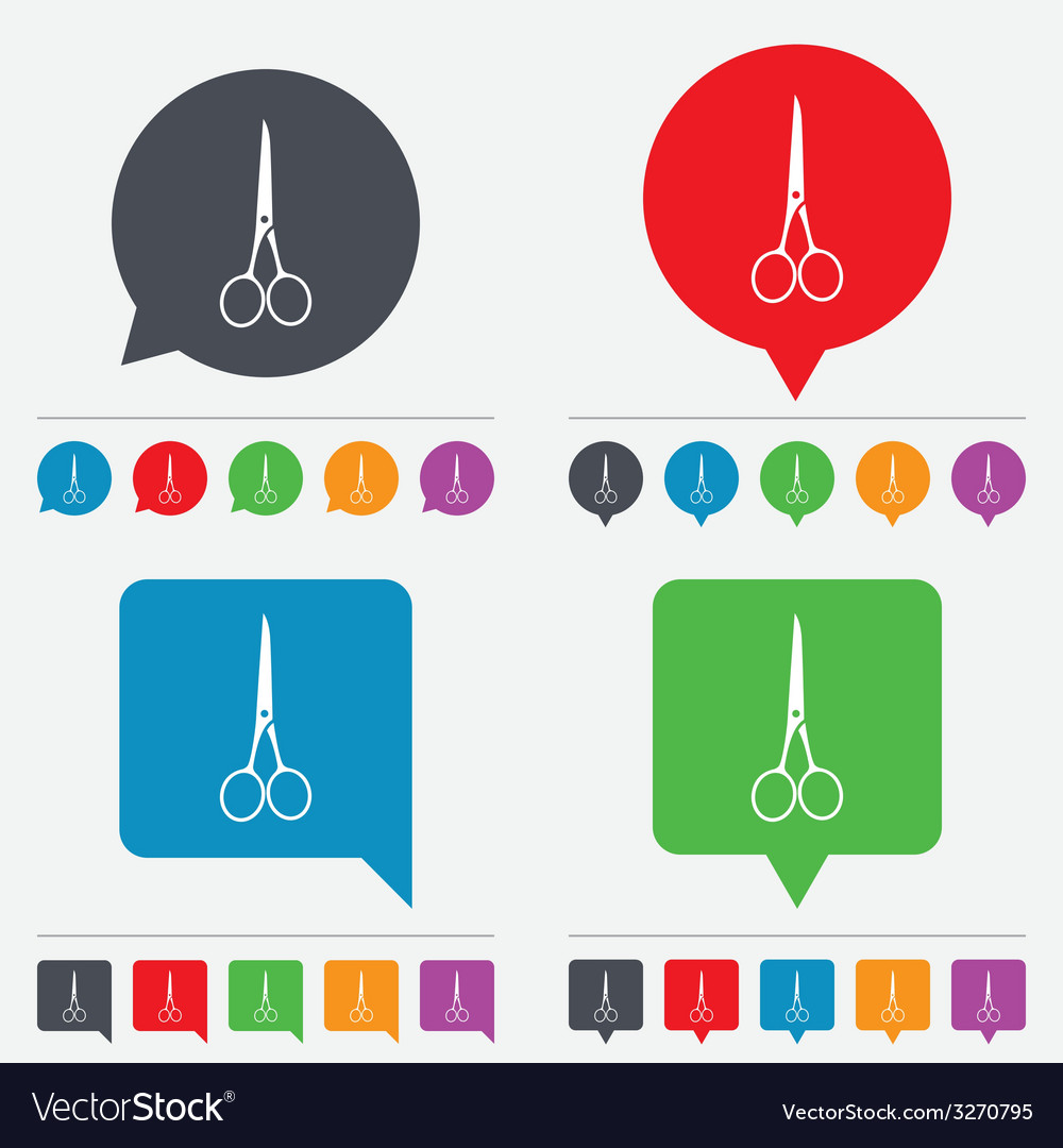 Scissors hairdresser closed icon tailor symbol vector | Price: 1 Credit (USD $1)