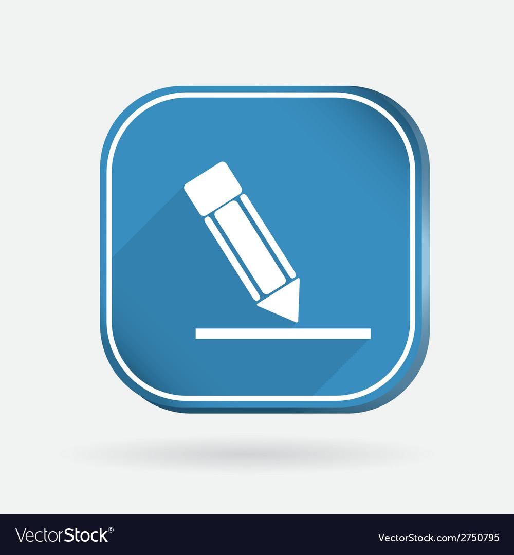 Silhouette writing pencil color square icon vector | Price: 1 Credit (USD $1)