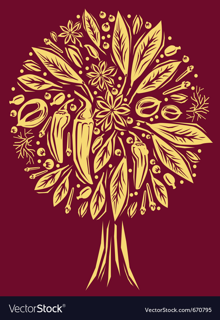 Spice tree vector | Price: 1 Credit (USD $1)