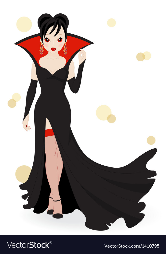 Vampire girl vector | Price: 3 Credit (USD $3)