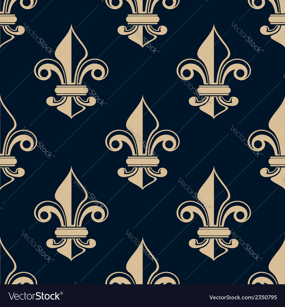 Vintage fleur de lys seamless pattern vector | Price: 1 Credit (USD $1)
