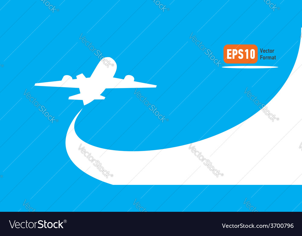 Airplane flight tickets air fly cloud sky blue vector | Price: 1 Credit (USD $1)