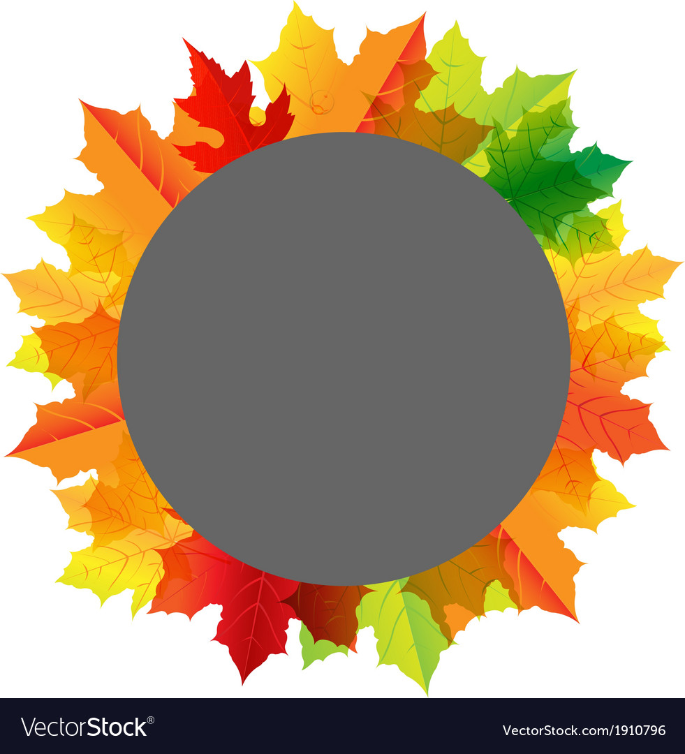 Autumn composition with speech bubble vector | Price: 1 Credit (USD $1)