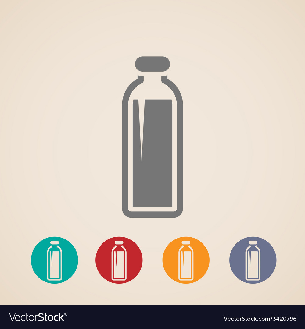 Bottle of milk or another beverage icons vector | Price: 1 Credit (USD $1)