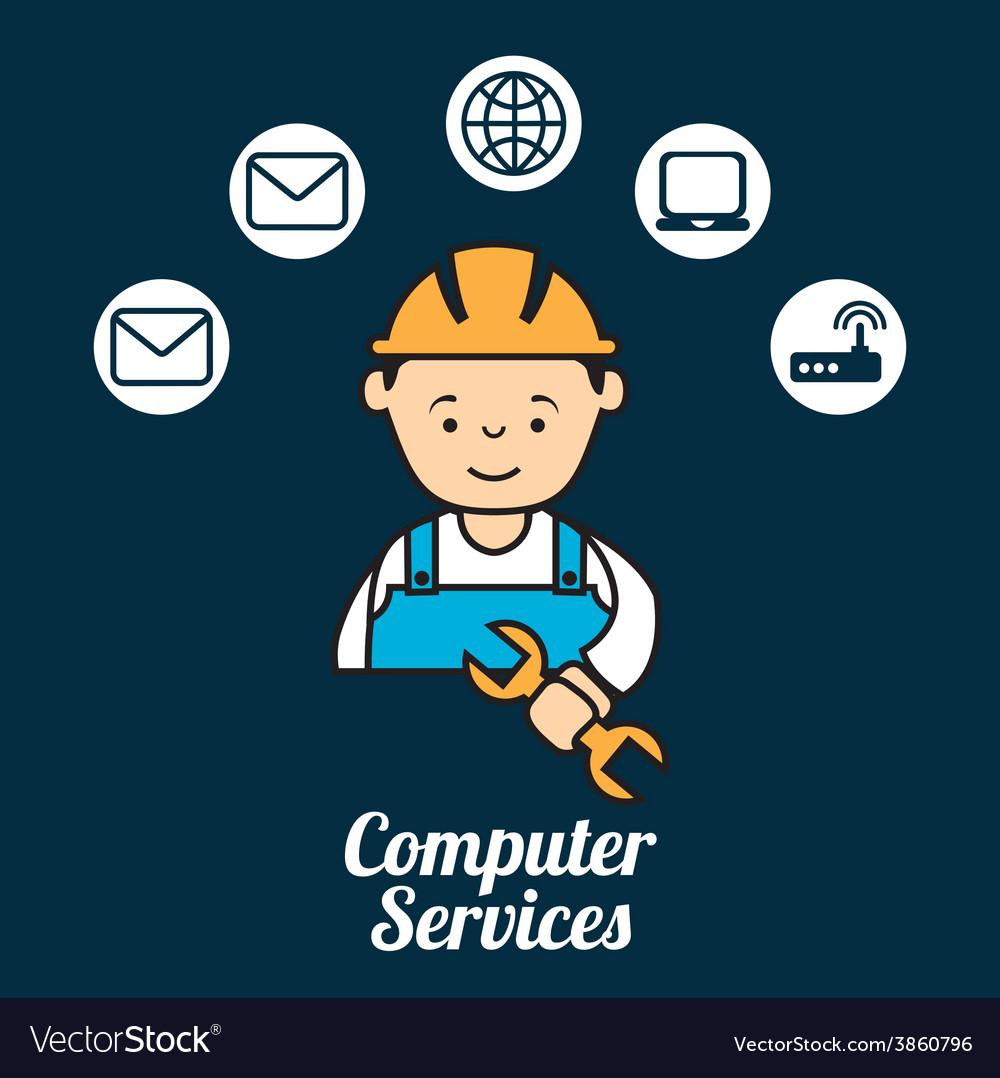 Computer service vector | Price: 1 Credit (USD $1)