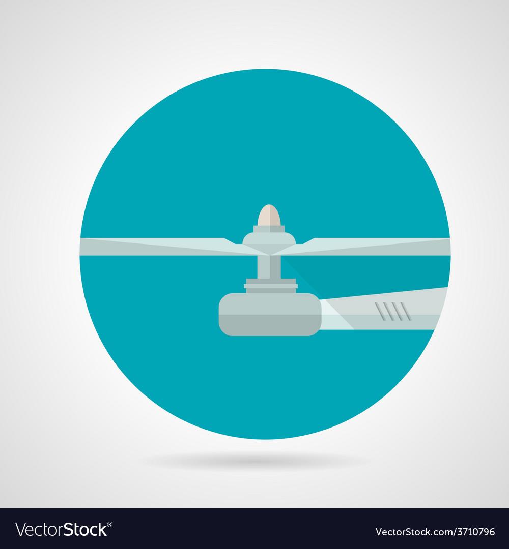 Drone propeller flat icon vector | Price: 1 Credit (USD $1)