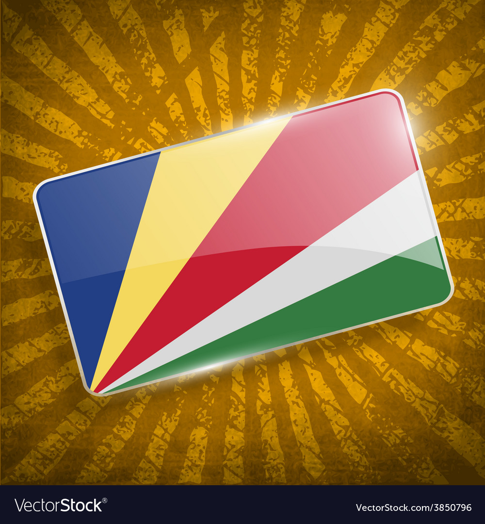 Flag of seychelles with old texture vector | Price: 1 Credit (USD $1)