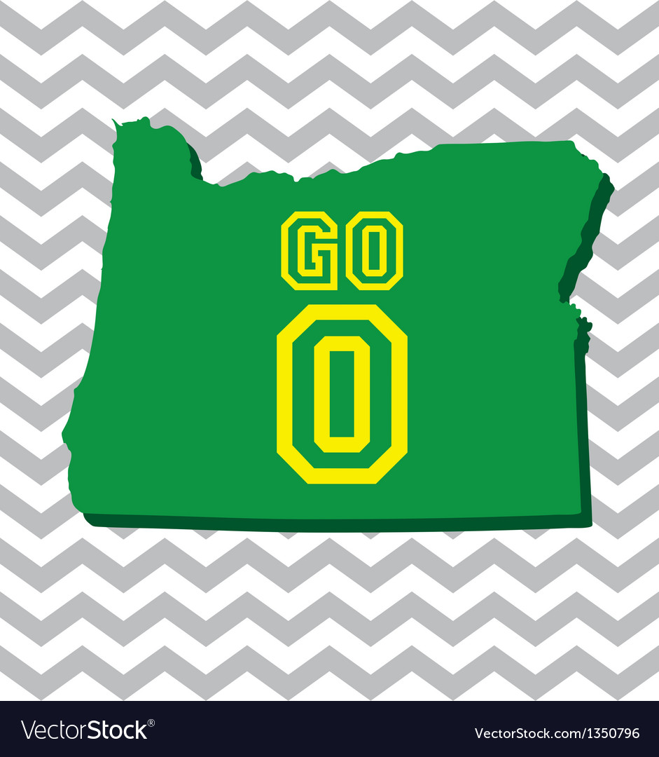 Go oregon chevron card vector | Price: 1 Credit (USD $1)