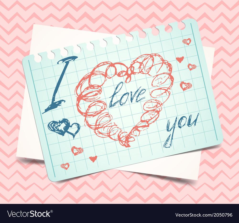 Hearts love valentine background vector | Price: 1 Credit (USD $1)