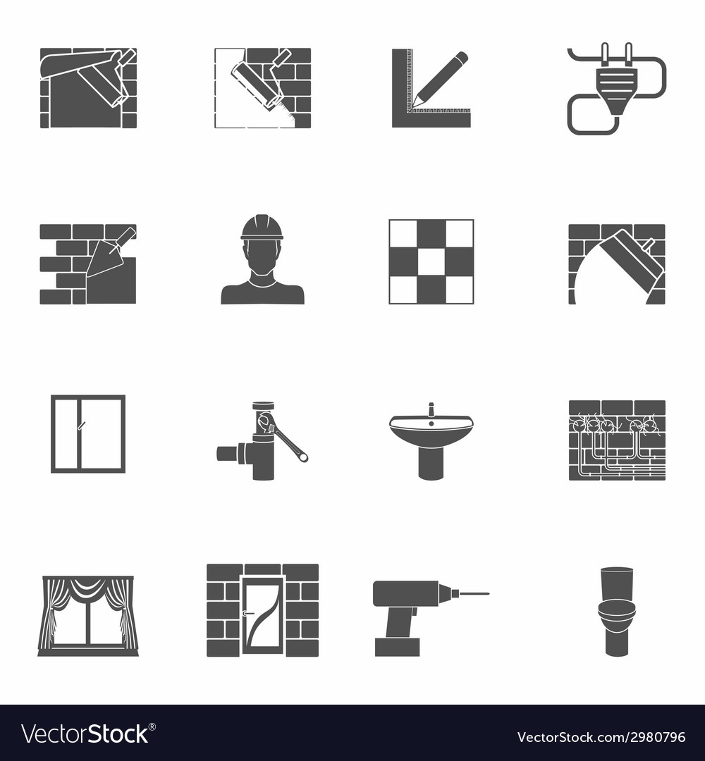 Home repair icons set vector | Price: 1 Credit (USD $1)
