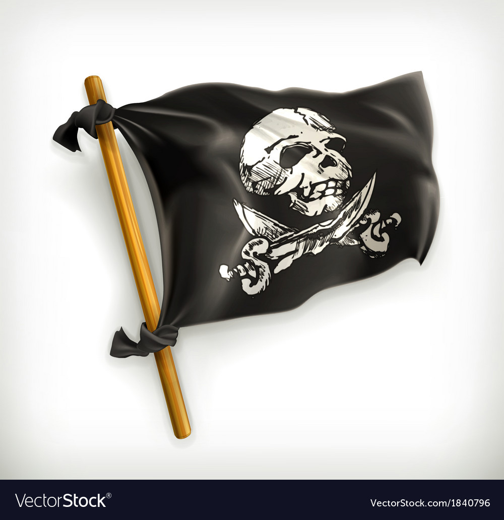Jolly roger icon vector | Price: 3 Credit (USD $3)