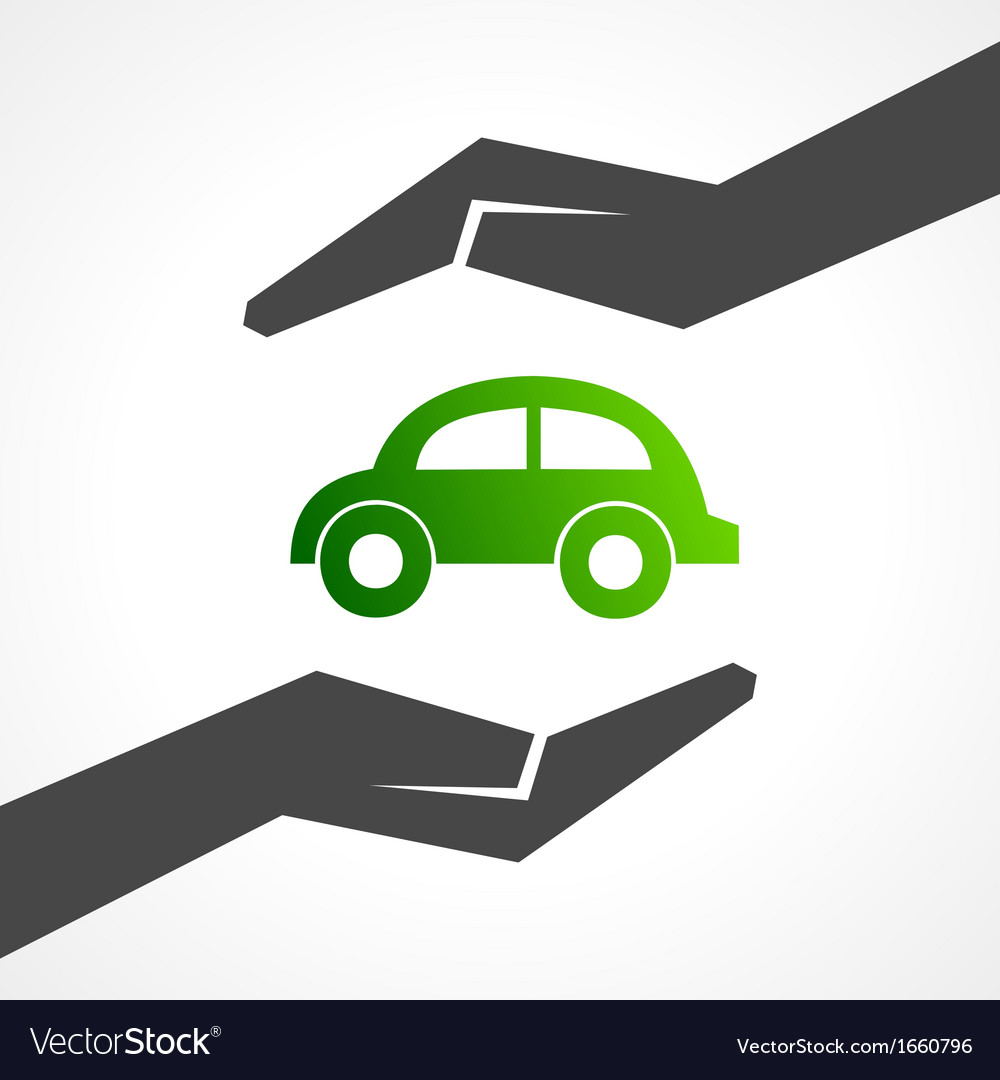 Save eco car concept vector | Price: 1 Credit (USD $1)