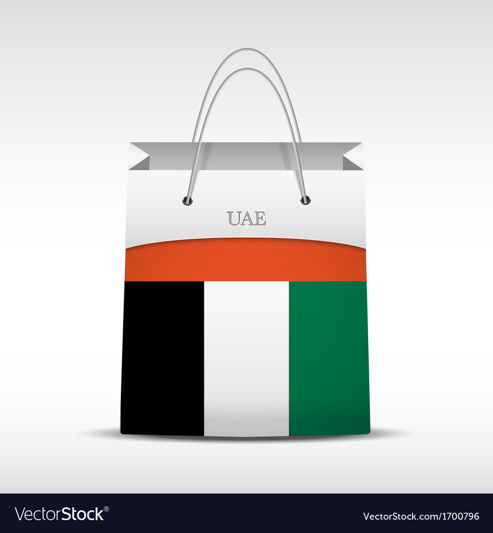 Shopping bag with flag uae vector | Price: 1 Credit (USD $1)