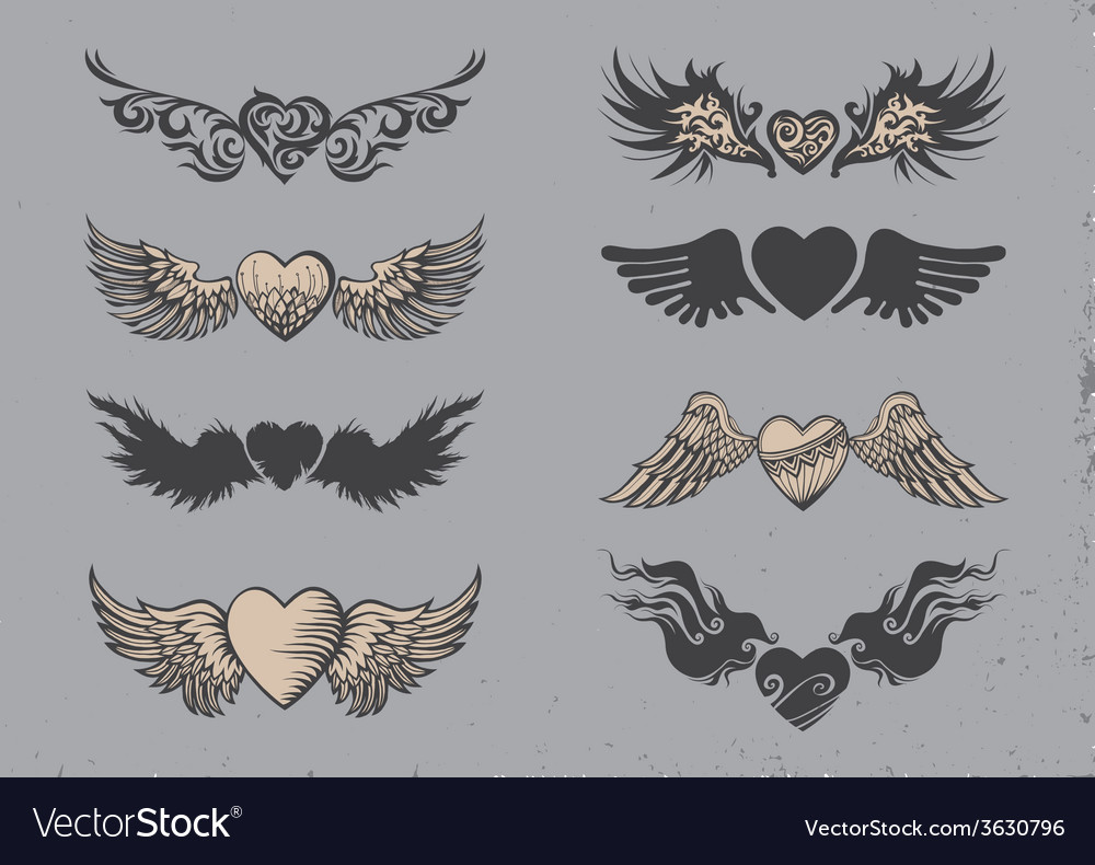 Tattoo hearts vector | Price: 1 Credit (USD $1)