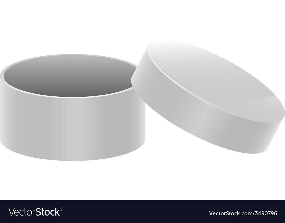 Template white round open box vector | Price: 1 Credit (USD $1)