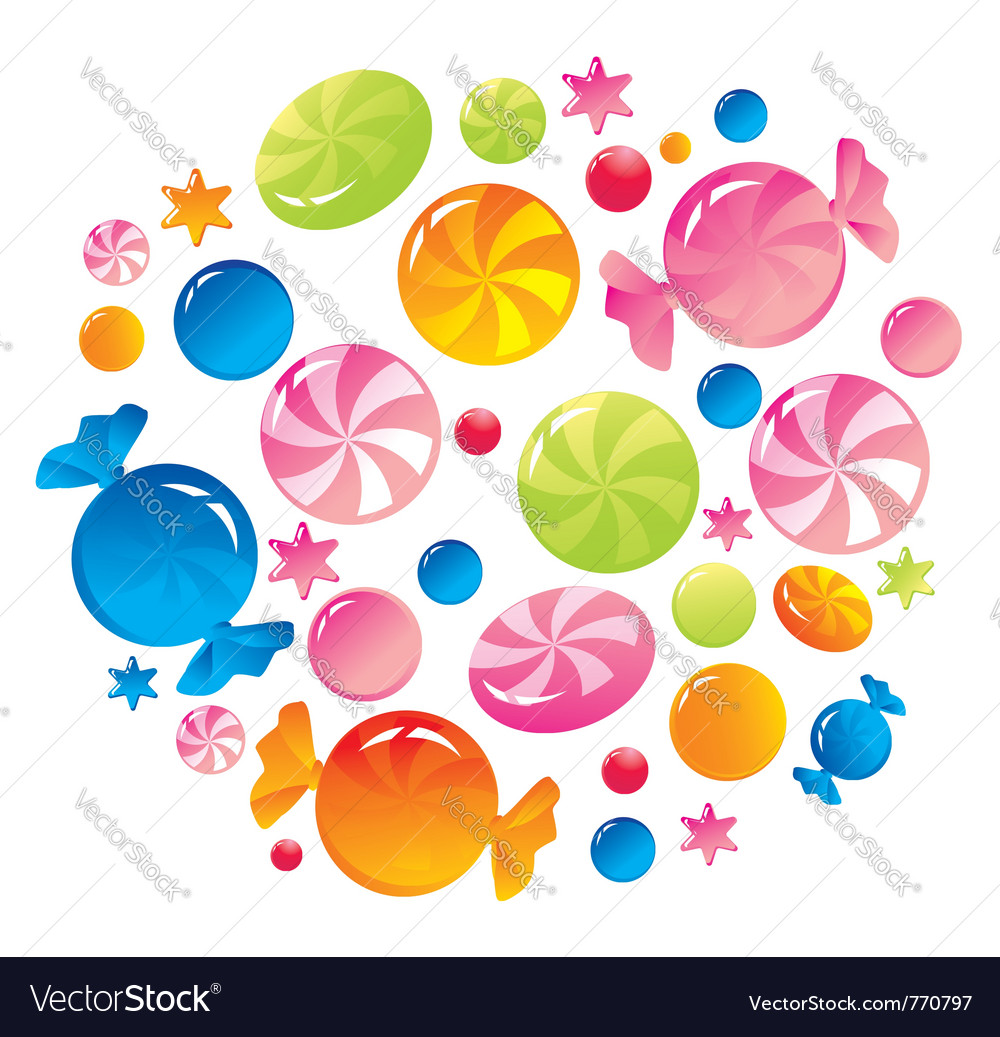 Allsorts from colorful sweets vector | Price: 1 Credit (USD $1)