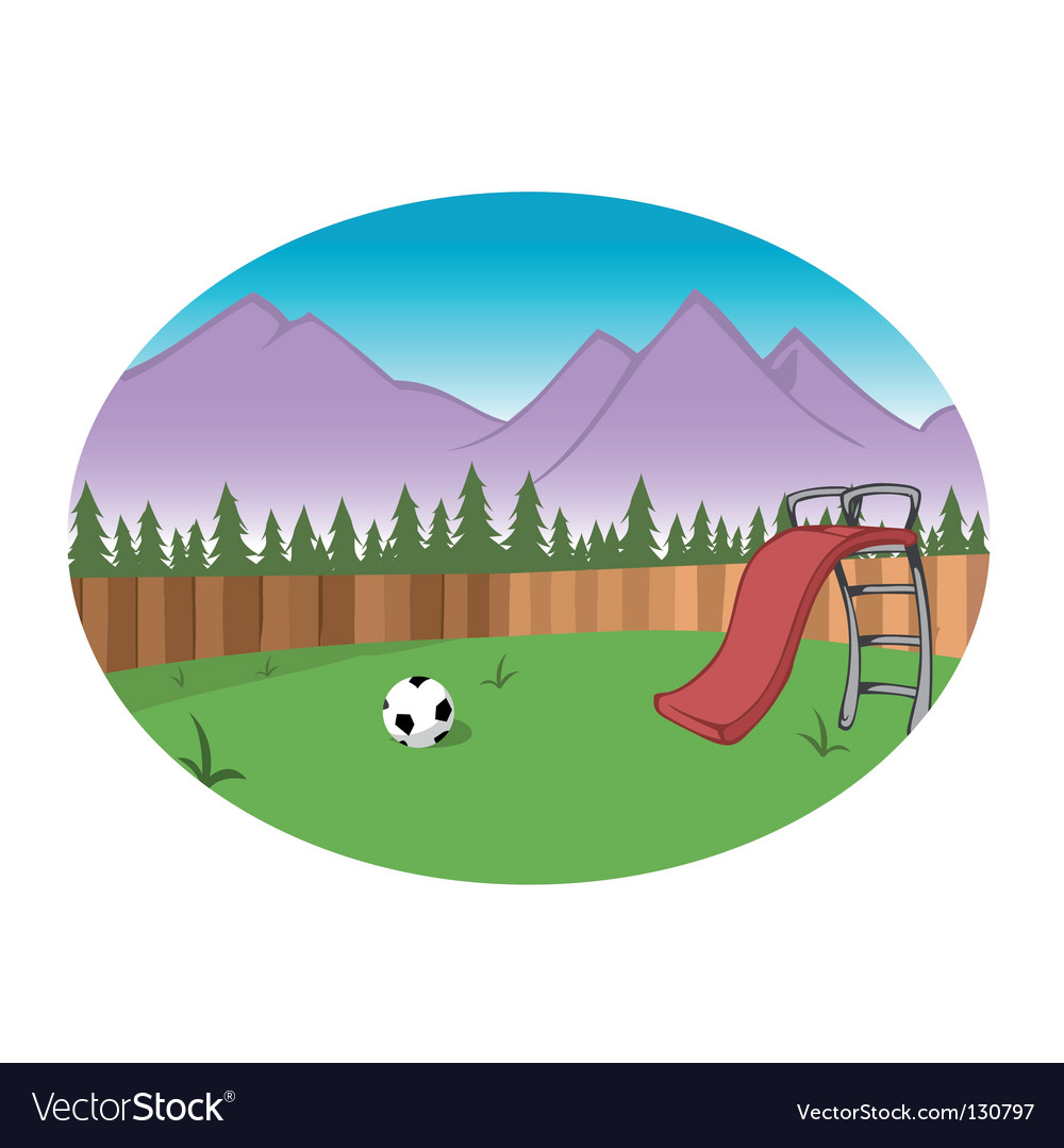 Backyard background vector | Price: 1 Credit (USD $1)
