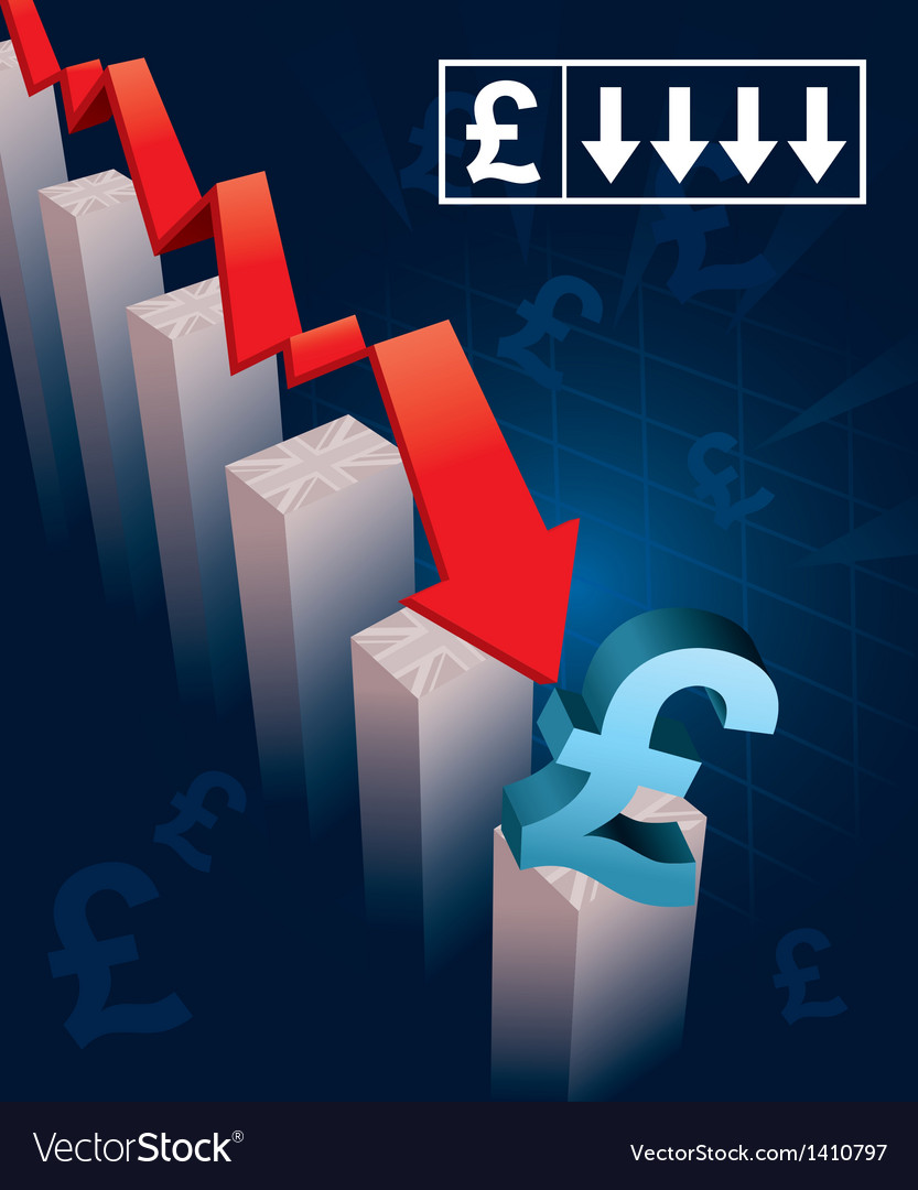 British pound currency crash vector | Price: 1 Credit (USD $1)