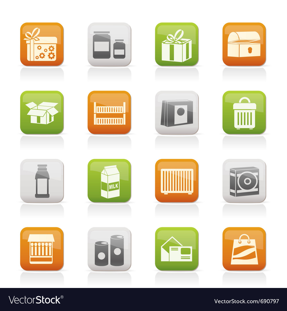 Different kind of package icons vector | Price: 1 Credit (USD $1)