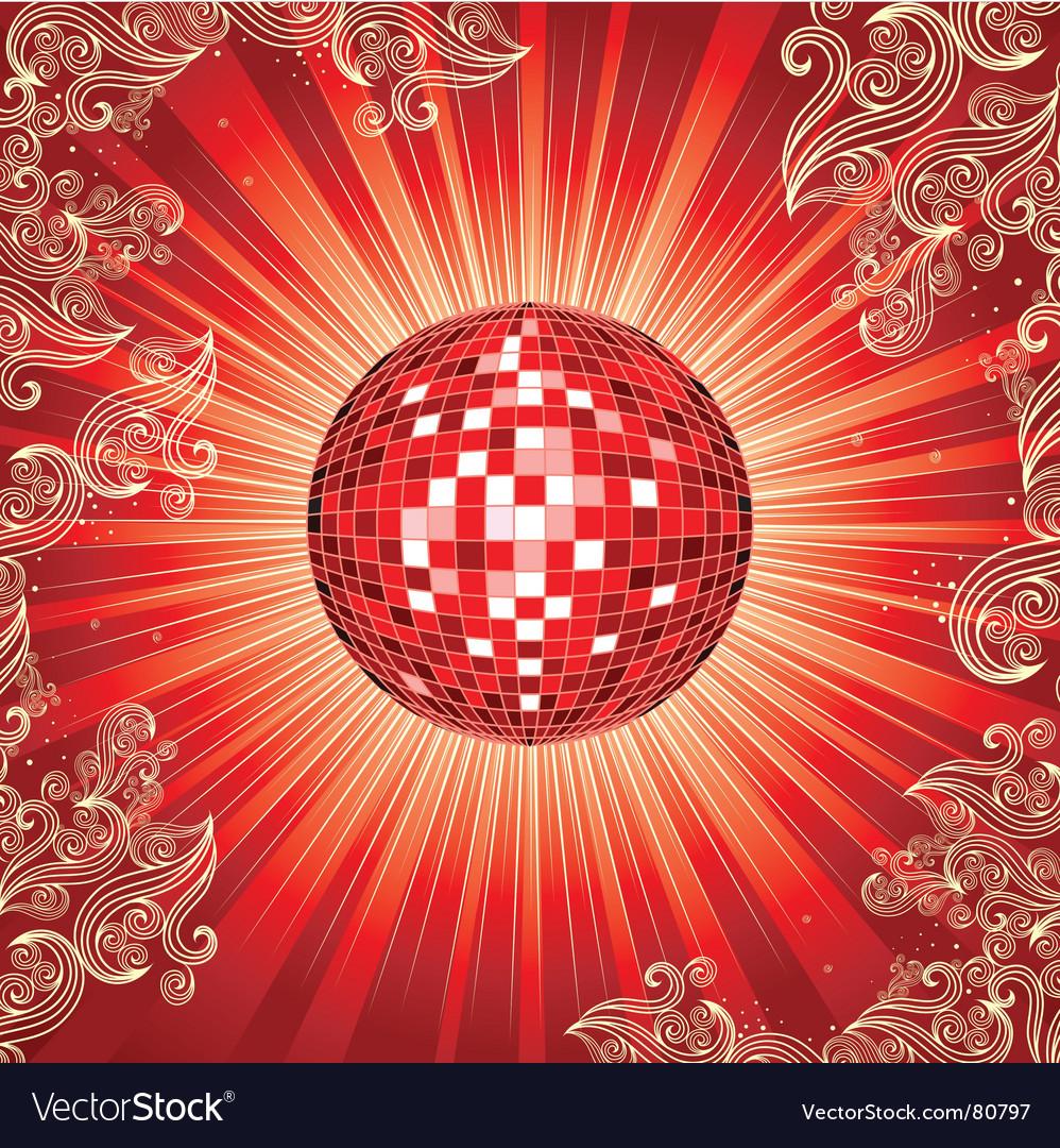 Disco ball vector | Price: 1 Credit (USD $1)