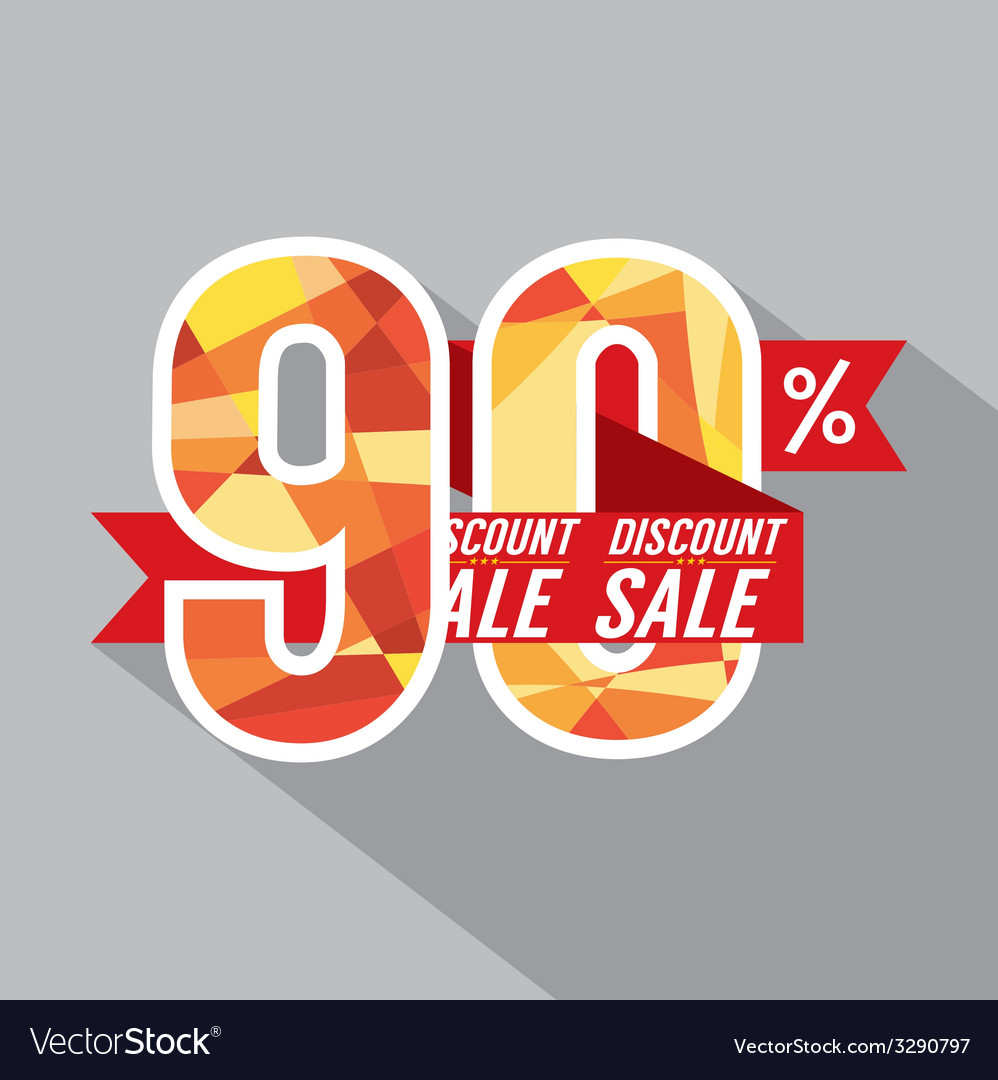 Discount 90 percent off vector | Price: 1 Credit (USD $1)
