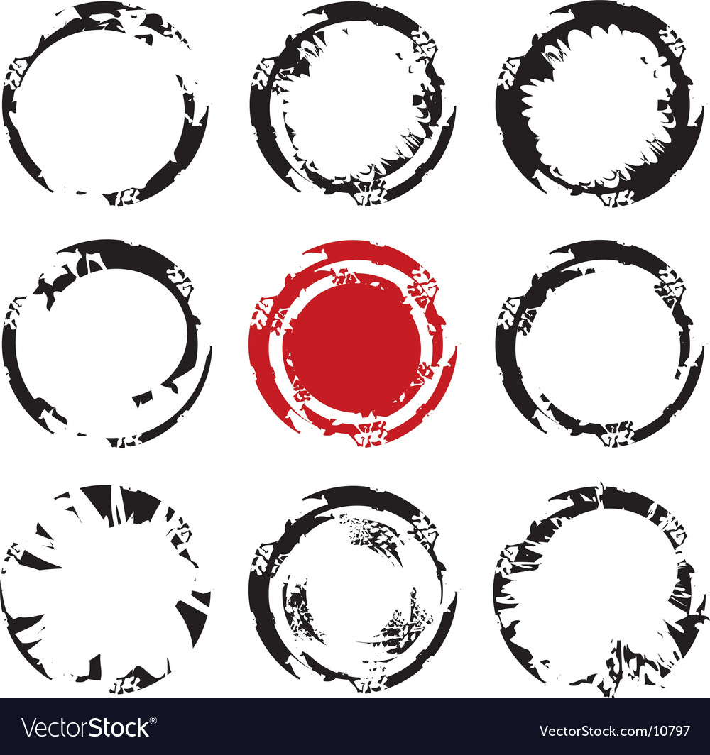 Grunge circle stains vector | Price: 1 Credit (USD $1)