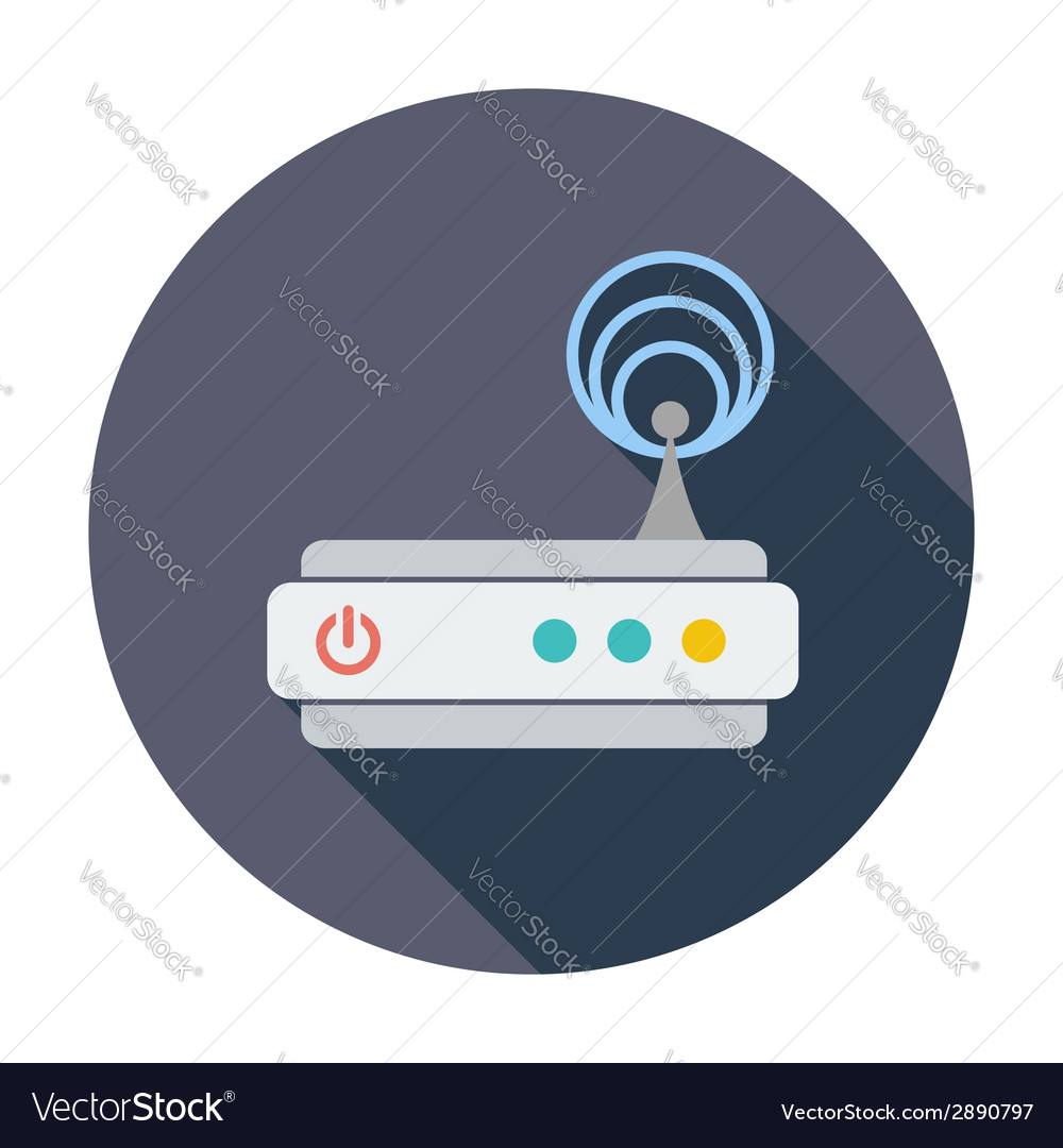Router single icon vector | Price: 1 Credit (USD $1)