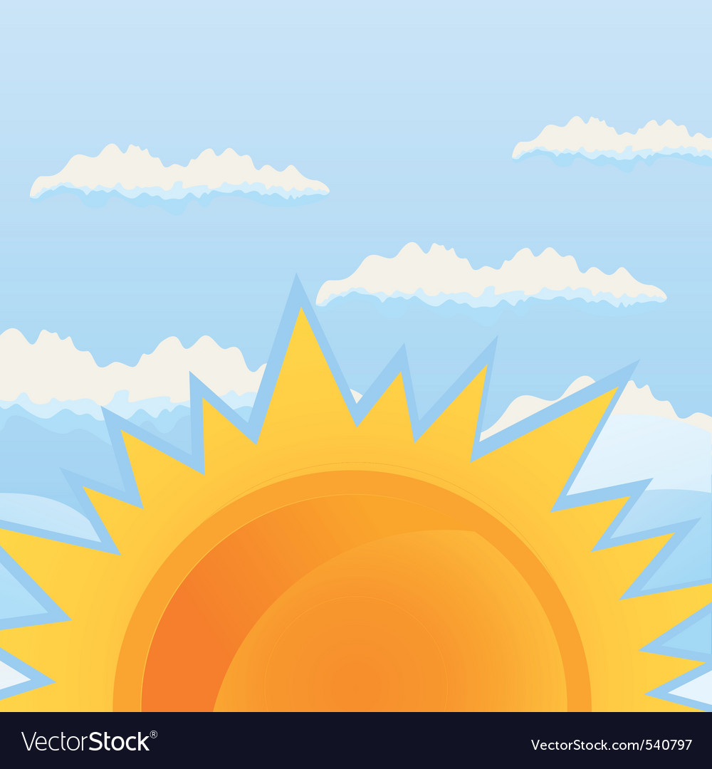 Sunrise vector | Price: 1 Credit (USD $1)