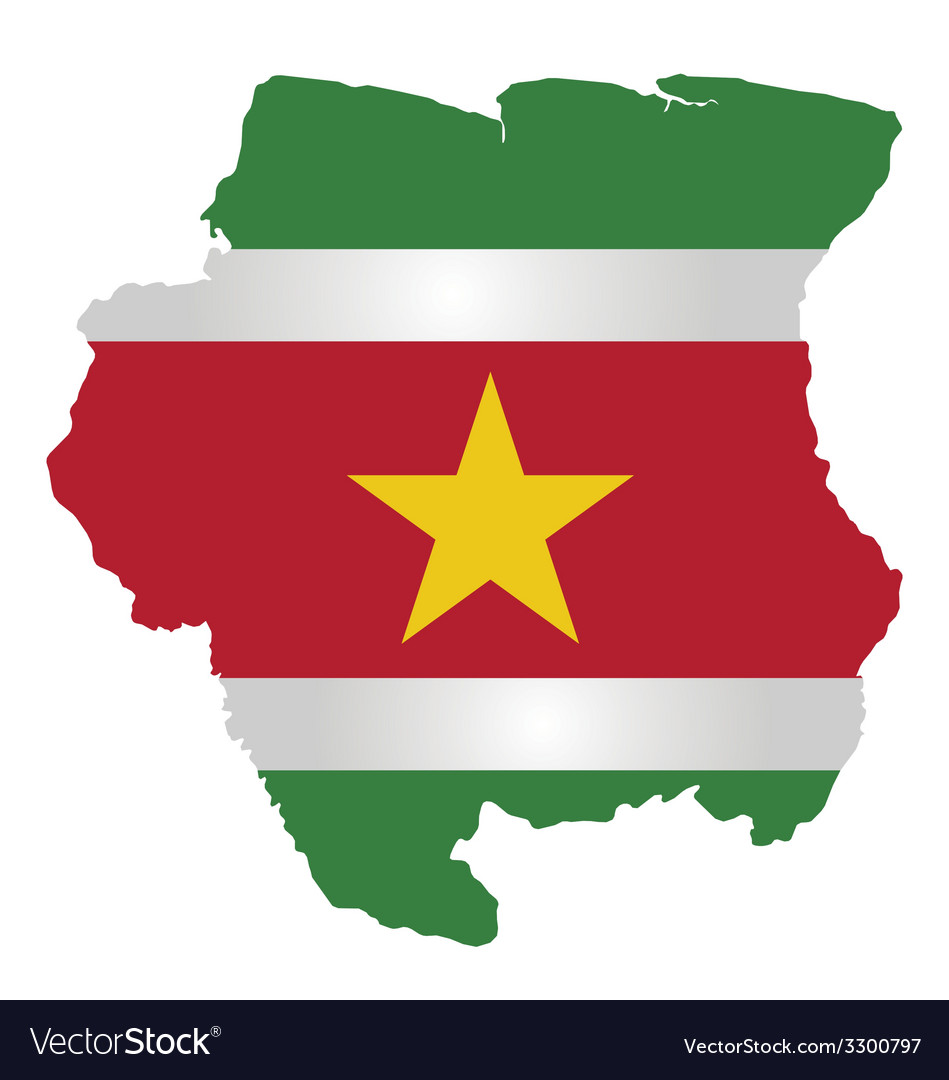 Suriname flag vector | Price: 1 Credit (USD $1)
