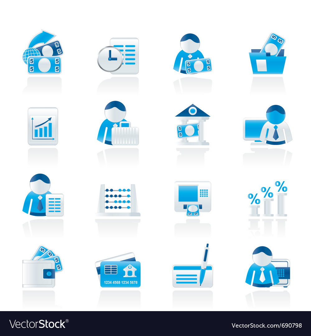Bank and finance icons vector | Price: 1 Credit (USD $1)