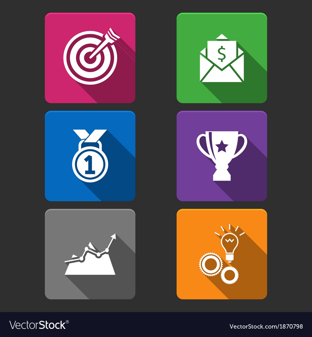 Business winner icons set vector | Price: 1 Credit (USD $1)